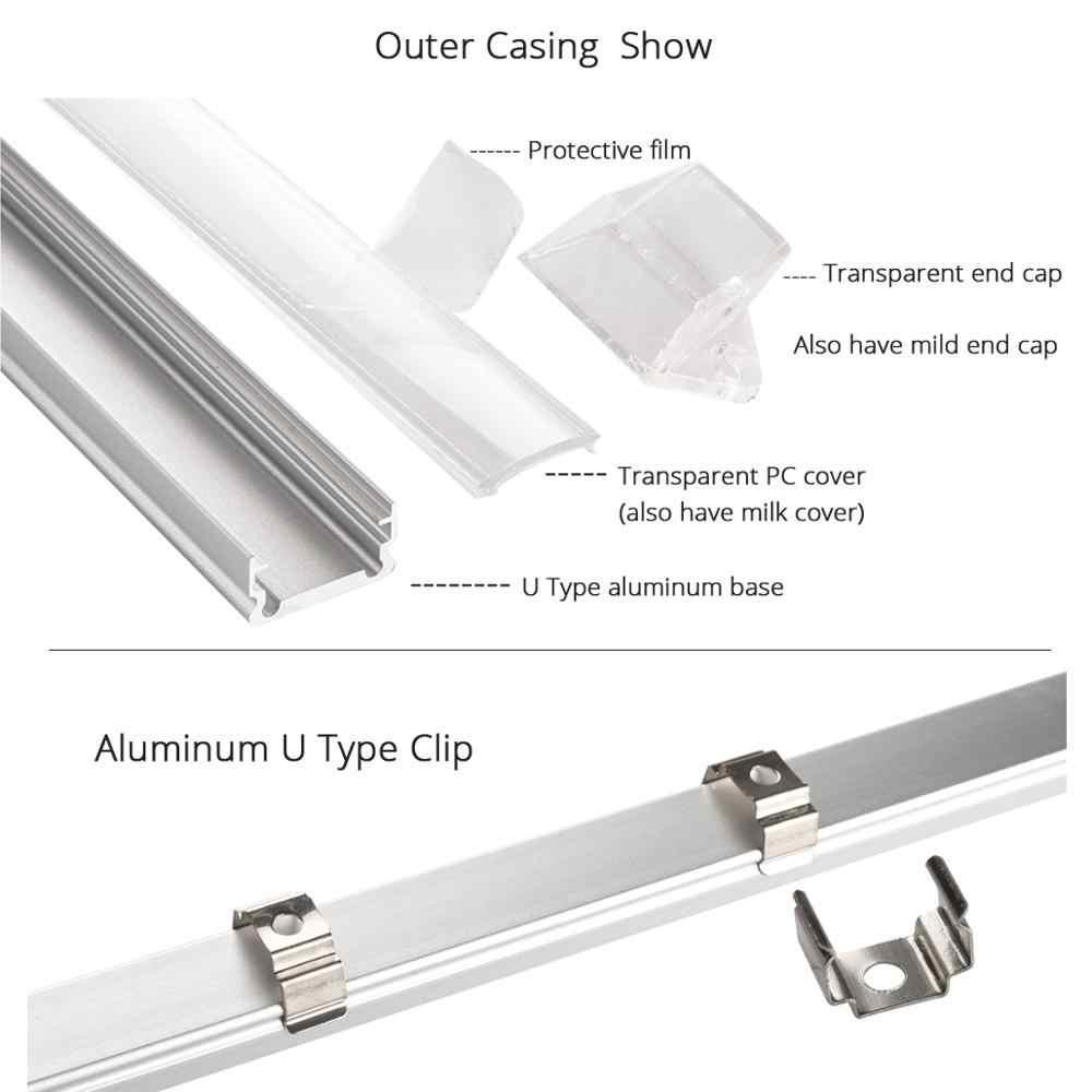 6 шт. 50 см DC 12 В SMD 5050 36 светодиодный s u-тип жёсткая планка бар свет алюминиевый корпус с молочной прозрачной крышкой светодиодный свет бар