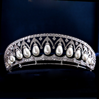 רויאל Luxurous מדהים רויאל מצנפות וכתרים נהדר כל Zirconia זירקון CZ מצנפות חתונה מצנפות תחרות מלכת מלך
