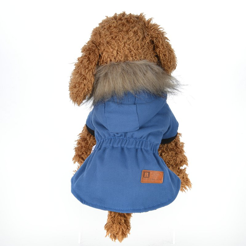 Pet Dog Clothes Puppy Dog winter Thick warm coat Hooded jacket roupa de cachorro
