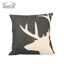 Smochi 1PC Throw Pillow Cover Декоративная имитация льняной ткани Наволочки Чехлы для гостиной с диваном (18x18 дюймов)