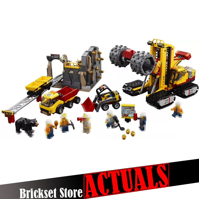 Lepin 02102 Mining Experts Truck Vehicle 60188 City Figures legoINGly sets Building Blocks Bricks Set Model Toys for Kids Gifts lepin 15008 2462pcs city street green grocer legoingly model sets 10185 building nano blocks bricks toys for kids boys