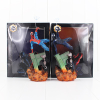 28cm Spiderman Vemon Figure Toy The Amazing Spider Man With Web Superhero Cool Model Doll