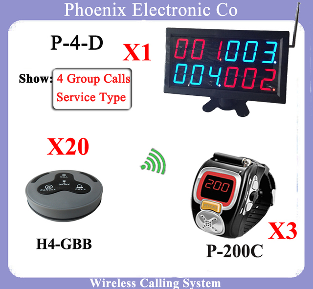 Restaurante sistema de chamada sem fio garçom sistema com serviço de relógio relógio pager convidado Para restaurante equipamentos