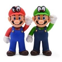 2 Style Cartoon Anime Super Mario Action Figure Toys 13cm Mario Luigi PVC Figure Collectible Model Doll Toy For Children Kids