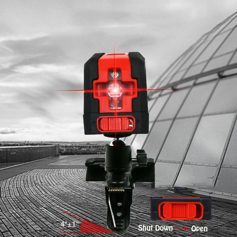 Portable Red Line Laser Level High Precision 360 Degree Self-leveling Rotary Level Laser Gravity Leveling Measuring Tools gartt 500 flybarless cf