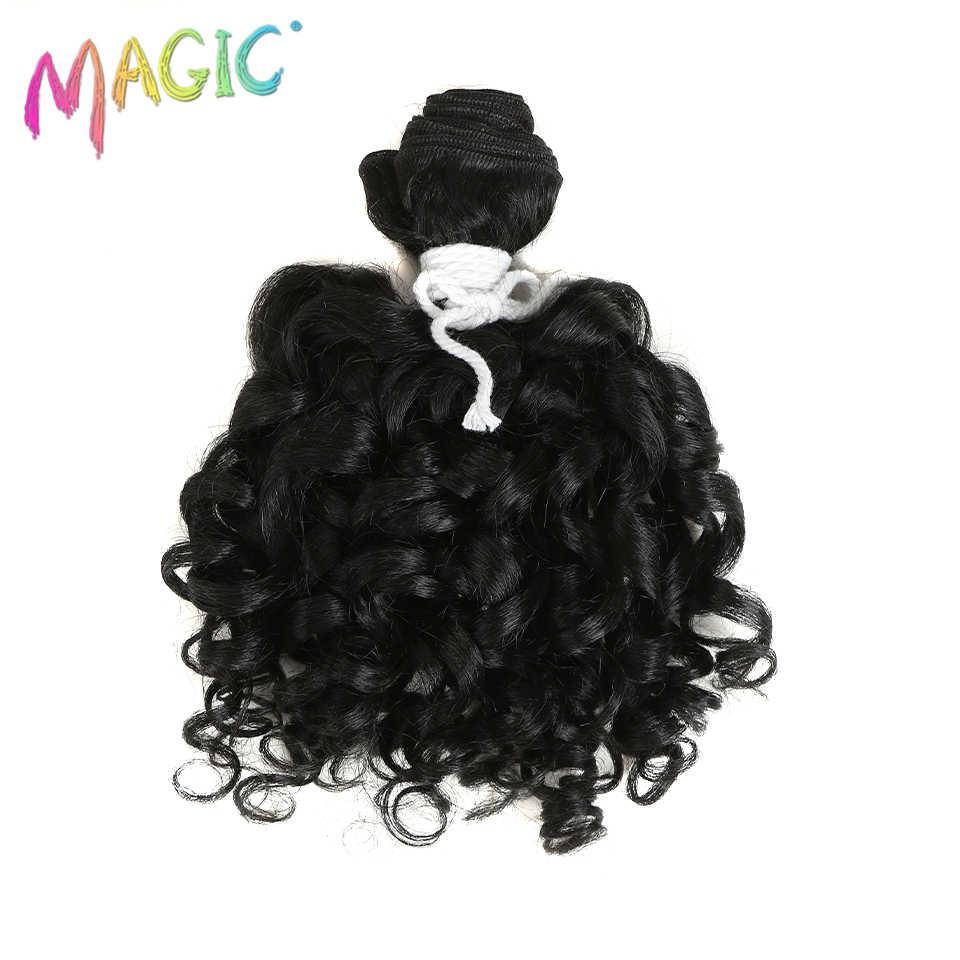 """Волшебные 2 """"пучки/упаковка женские волнистые волосы с эффектом омбре кудрявые Вьющиеся Плетение для удлиннения волос термостойкость завивка искусственных волос 14"""" дюймов"""