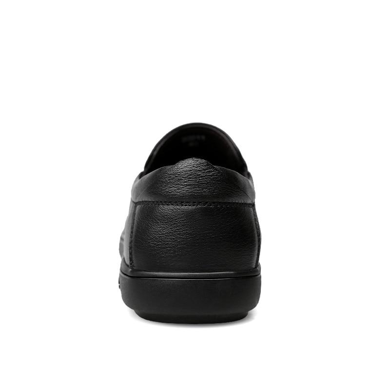 Sapatos Genuíno Preto Moda Casuais Size Para Mocassins Slip Calçados Homens Luz De Plus Condução On Flats Masculinos Barco Couro xqxEPXF