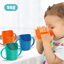 AAG Safety Baby Water Bottle Cup Solid Color Child PP Drinking Cup Bevel Mouth Leakproof Kids Training Water Bottle * drinking safety of water resources