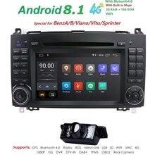 Android 8,1 2din автомобильное радио для машины DVD мультимедиа для Mercedes Benz B200 A B класс W169 W245 Viano Vito W639 Sprinter W906 WI-FI gps
