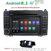 Android 8.1 2din Auto radio Car DVD multimedia for Mercedes Benz B200 A B Class W169 W245 Viano Vito W639 Sprinter W906 WIFI GPS