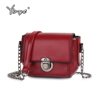 YBYT Brand 2017 New Vintage Casual Solid Chains Hasp Mini Flap Hotsale Ladies Evening Bag Women