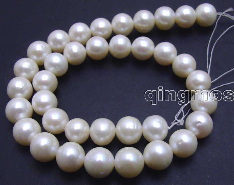 SALE Big 12-13mm White Round natural high quality Freshwater pearl Loose Beads 14-los366 Wholesale/retail Free shipSALE Big 12-13mm White Round natural high quality Freshwater pearl Loose Beads 14-los366 Wholesale/retail Free ship