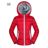 LZJ 2017 Women Basic Down Top Jacket Plus Size Female Coat Slim Autumn Winter Parkas Collar