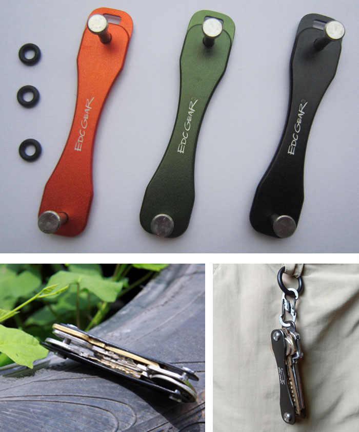 EDC مفتاح المفاتيح متعددة أداة كليب مجلد المشبك جيب عدة بار المنظم جامع حامل والعتاد الألومنيوم الذكية أداة في الهواء الطلق مخيم