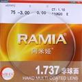 Super thin! 1.74 index Clear Aspheric Resin Lens Lenses HMC,Asphere Prescription Lenses For Myopia/Hyperopia/Presbyopia 2 PCS