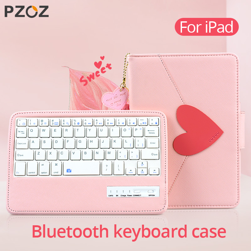 PZOZ Case For Apple IPad Pro 9.7 10.5 Inch 2017 New 2018 IPad Mini 5 4 3 Air 1 2 Protective Cover With Bluetooth Keyboard Cases