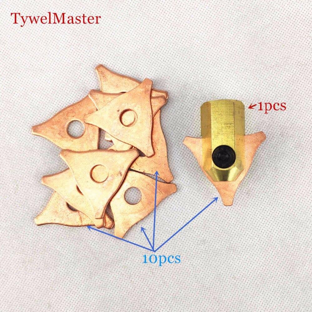 11pcs Washer Hook Triagne Dent Puller Electrode Chuck Dent Pulling Stud Welder Spot Welding Spotter Triangle Pad Kit