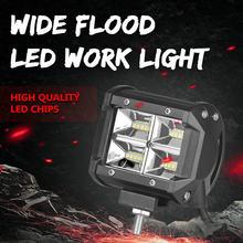 2 pcs 4 inch 48W Flood Led Work Light Bar 12V 24V DRL Fog For UAZ Offroad Rampe Niva 4x4 Truck Car Jeep Ford Boat ATV Motorcycle