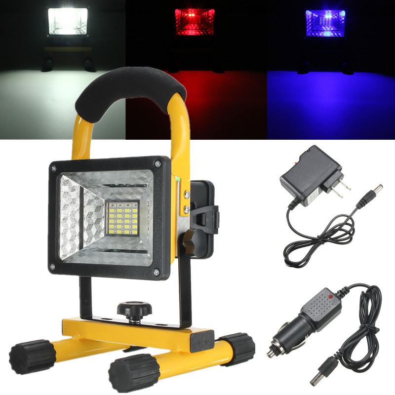 30W 24LED Outdoor FloodLights Rechargeable Warning lamp Outdoor camping Flood Light LED Work Trouble Lamp Universal