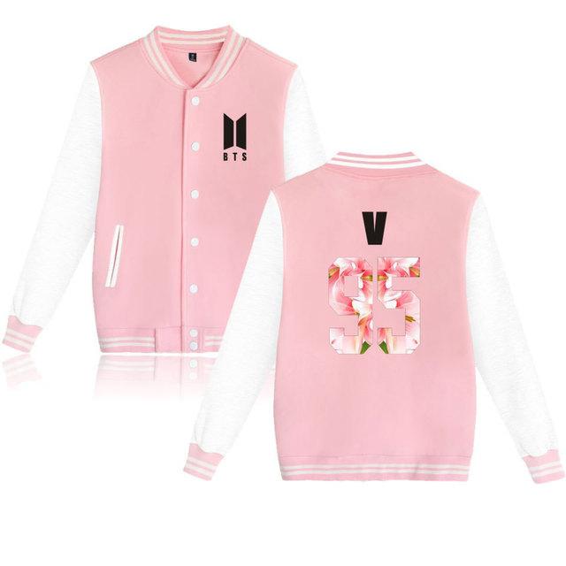 BTS Kpop Baseball winter hoodies Men WomenBangtan Hip Hop Hoodies XS to 4XL