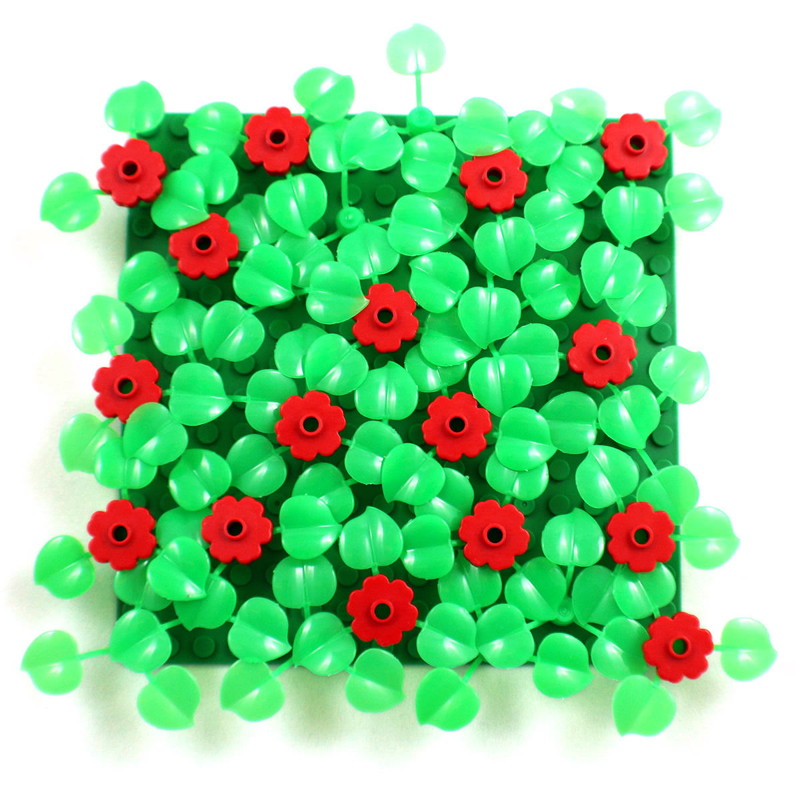 ZXZ Leaves Bush Tree Flowers Plants DIY Block Brick MOC Building Blocks Part Compatible With Legoed Plants Kid Toys Gift 70Pcs lepin 22001 pirate ship imperial warships model building block briks toys gift 1717pcs compatible legoed 10210
