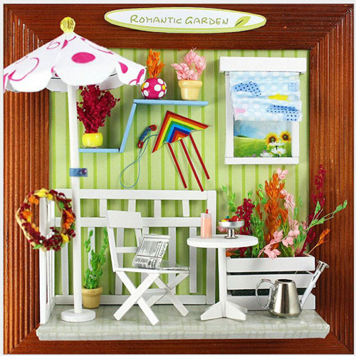 Diy Romantic Christmas Gifts: Free Shipping DIY Romantic Garden Dollhouse Photo Frame