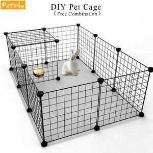 Petshy DIY клетка для домашних животных, клетка для собак, железная сетка, кошка, щенок, питомник, дом, Бесплатная комбинация, животное, птица, кро...