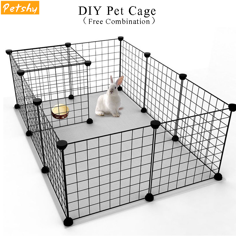 Petshy DIY Pet Fences Dog Cage Playpen Iron Net Cat Puppy