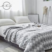 Хлопковое трикотажное летнее одеяло в клетку, махровое одеяло для кровати, покрывало для дивана, простыня Colcha