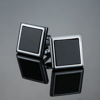 Classic Men's Black box Cufflinks  1