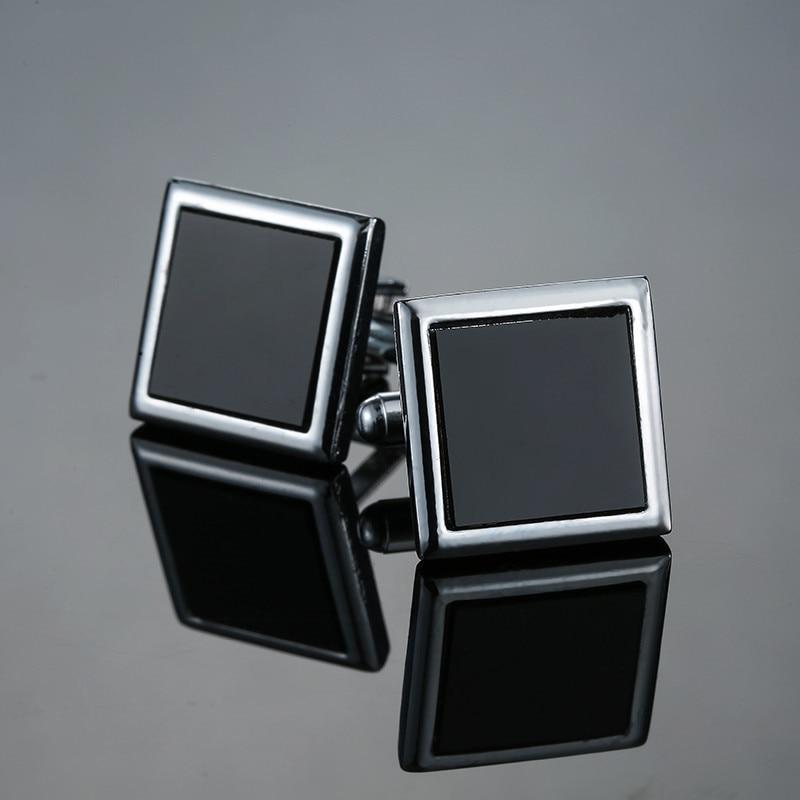 Classic Men's New Black Box Cufflinks Cufflinks French Wedding Dress Shirt Accessories 1 Double Free Shipping