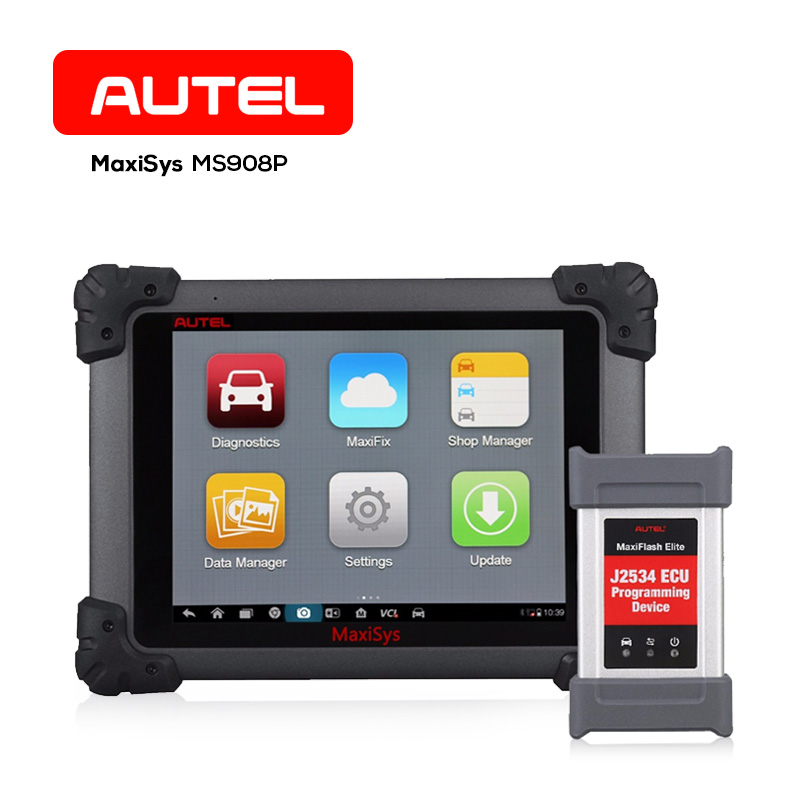 Autel MaxiSYS Pro MS908P Auto Diagnostic Tool OBD2 J2534 ECU Programmer Scanner Wifi Bluetooth 2 Year Free Update