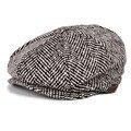 VOBOOM Tapa Octogonal Lana Tweed Cabbie Boina Casquillo del vendedor de Periódicos del Sombrero de Otoño Sombreros de Invierno Para Los Hombres DT016