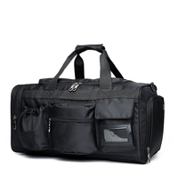 Precio Winmax multifuncional bolsillo gimnasio bolsas de viaje impermeable Bolso grande bolso de mano para hombre negro para Fitness deportes bolsas de lona