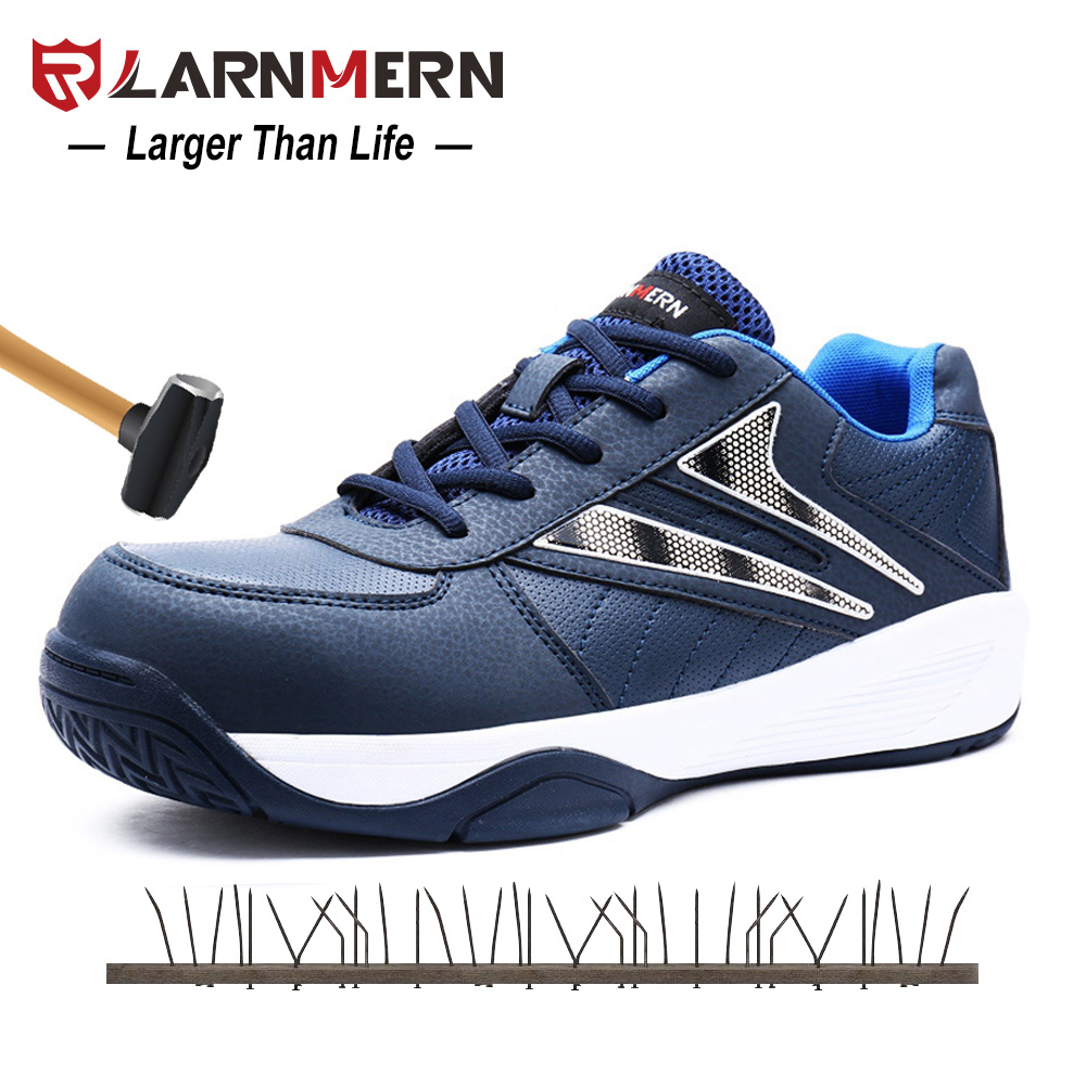 LARNMERN Men Steel Toe Work Safety Shoes Steel Toe Outdoor Protective Security Footwear Steel Midsole Sport Safety Sneaker Shoes все цены