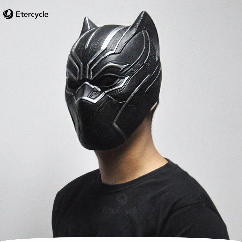 Pantera negra Máscaras Filme Fantastic Four Cosplay Partido Brinquedo de Látex Dos Homens para o Dia Das Bruxas