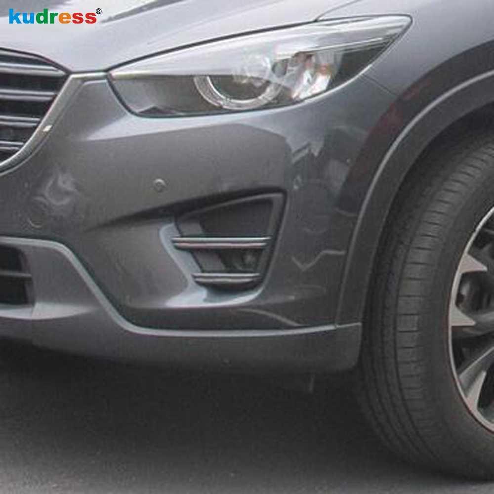 لمازدا CX-5 CX5 2016 2017 بعد تصفيف الشعر أول Ge الجبهة مصباح الضباب الخفيف غطاء الكسوة ABS كروم اكسسوارات السيارات 2 قطعة