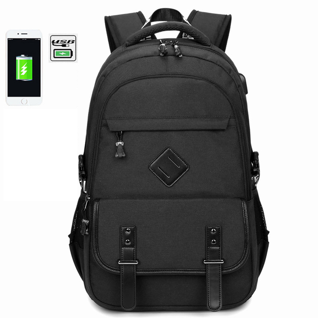 6c2496353a48 2018 Multifunction USB Charging Men Laptop Backpacks For Teenager Fashion  Oxford Waterproof Travel Backpack High School Bag