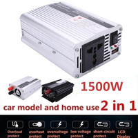 VEHEMO 1500W Car Power Inverter Converter Transformer DC 12V To AC 220V W Adapter Portable