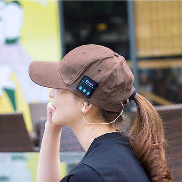 28a69e3027 US $12.48 |Original wireless bluetooth headset cap listen music player  earphone bluetooth sport headphone summer hat earphones-in Bluetooth  Earphones ...