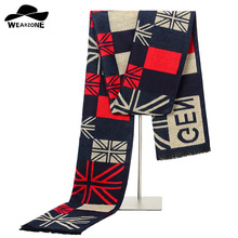 WEARZONE мужской зимний клетчатый шарф геометрический Модный дизайнерский Повседневный теплый шарф шаль с кисточками деловые шарфы 180x30 см