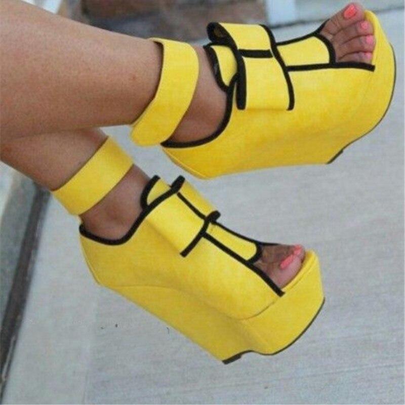 SHOOFOO Shoes,Elegant Fashion Women's Shoes,about 14.5 Cm Of Wedges Heel Shoes, Peep Toe Pumps, Women Shoes. SIZE:34-45