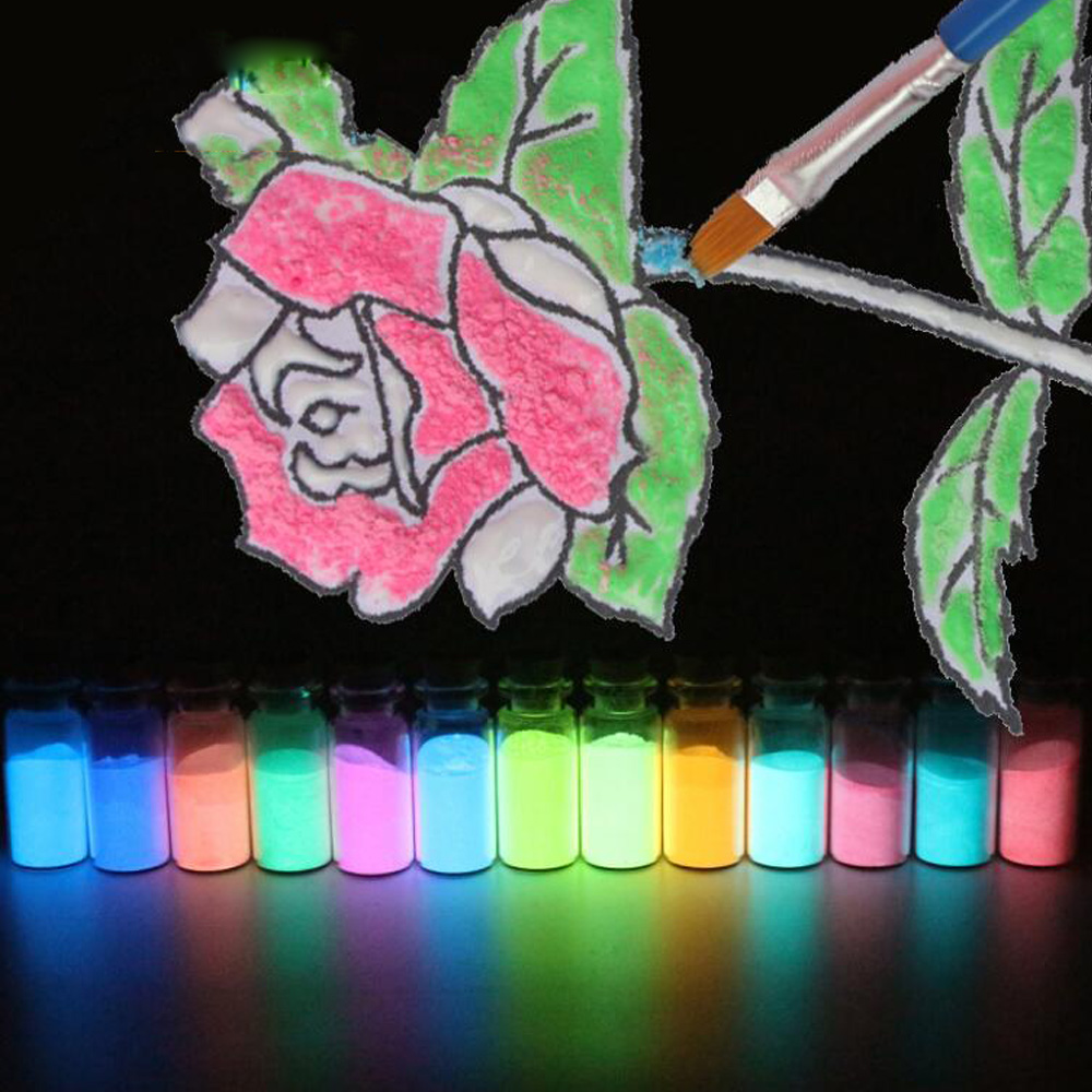 13 Pcs Glow In The Dark 10g Luminous Party DIY Bright Paint Star Wishing Bottle Fluorescent Particles Brinquedos Toys luminous glow sand super bright noctilucent sand diy wishing sand 50g lot glow in the dark for wishing glass bottle