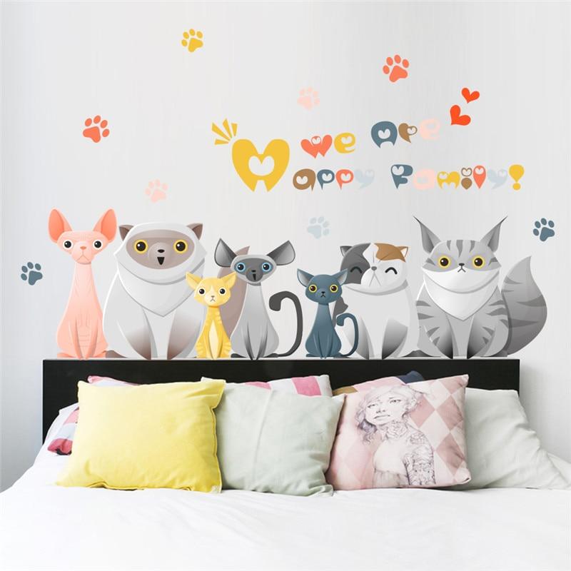 % 3d Tier Wirkung Lebendige Hund Katze Pfote Tür Kühlschrank Wand Aufkleber Für Kinderzimmer Pet Dekoration Wandtattoos Wand Kunst Poster Delikatessen Von Allen Geliebt