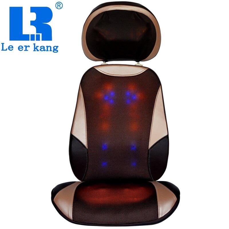 LEK 918C Aquecido shiatsu almofada de massagem da cintura Pescoço para trás hip pad casa Multifuncional de corpo inteiro almofada de massagem elétrica cadeira