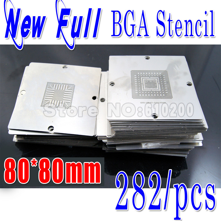 2013 Newest BGA 282/pcs 80*80 BGA stencils templates Notebook and desktop Substitute 241/PCS bga reballing stencil 80x80 new bga 241 pcs 90 90 bga stencils templates notebook and desktop substitute 230 pcs bga reballing stencil 90x90