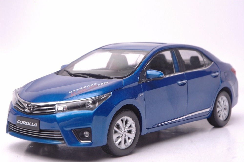1:18 Diecast Model for Toyota Corolla 2014 Blue Alloy Toy Car Collection трактор с прицепом св ход 36см dickie
