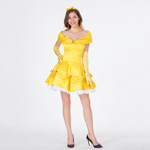 Image 4 - VASHEJIANG Classic Anime Belle Princess Costume Beauty and the Beast Costume Women Fantasia Halloween Costumes Fancy Party Dress