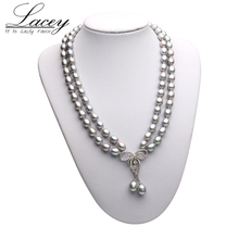 Wedding Natural Freshwater Pearl Necklace For Women,Two Strands Cultured Pearl Choker Necklace Jewelry