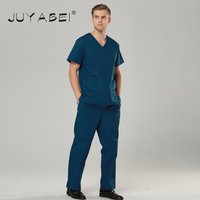 2017 New V Neck Summer Nurse Uniform Hospital Medical Scrub Set Clothes Short Sleeve Surgical Scrubs